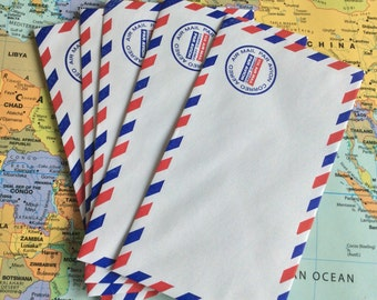 Air mail envelopes, travel Junk journal, journal extras.
