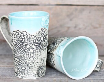 Sea Mist Vintage tall mugs