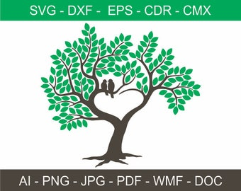 Wedding Tree Guestbook Clipart - Tree Clipart with 150 leaves - Personalized Signature Guestbook - Laser Cutting and Engraving file - Print