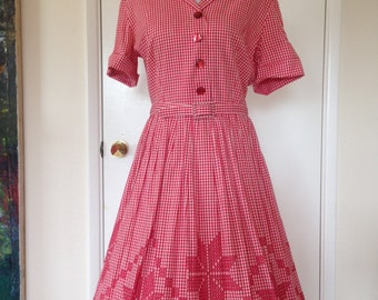 1950s gingham dress - Etsy