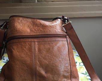 Brown shoulder bag, Fossil