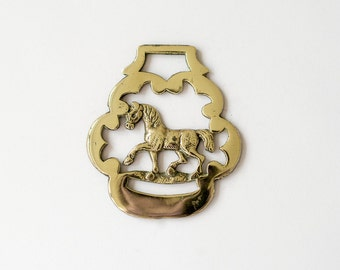 Prancing Horse, Horse Brass, Vintage, Christmas Decor