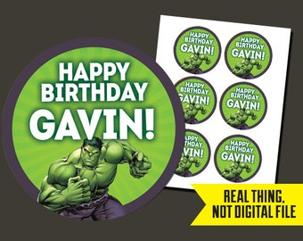 Hulk Stickers   Hulk Birthday Stickers - Incredible Hulk