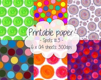 Printable paper: Spotty set #3