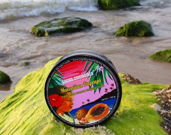 Papaya Enzyme Exfoliating Tropical Face Mask - 100% natural ingredients free of chemical, vegan friendly, real Papaya aroma