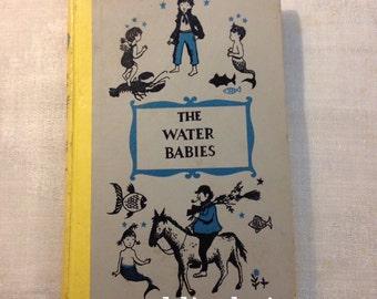 Vintage The Water Babies by Charles Kingsley Hardcover Book 1954 Junior Deluxe