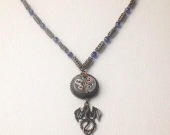 The brass steampunk dragon's treasure