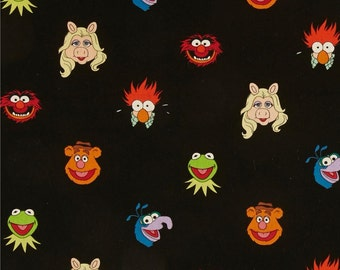 Muppets Disney Muppet Show Friends Kermit Fozzy Miss Piggy Animal Beaker Gonzo Cotton Fabric by Springs Creative