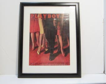 Vintage Playboy Magazine Cover Matted Framed : October 1961 -
