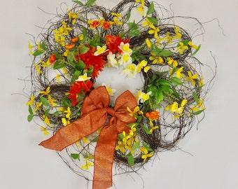 Yellow & orange Wreath