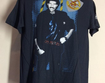 Vtg 1985 Lionel Richie Running With The Night Concert T-Shirt L 80s Pop R&B Commodores