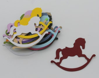 Rocking horse: set of die - cut cut-outs