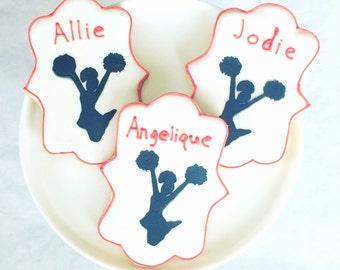 Personalized Cheerleader Cookies - Vanilla - Chocolate - Sugar Cookies