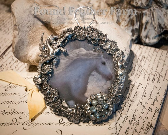 Handmade Gypsy Jewelry Pendant with Vintage Rhinestones and a Nickel Silver Detail