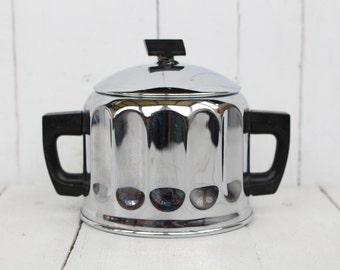 Soviet metal Sugar Bowl Made in USSR Sugar pot soviet Vintage kitchen Sugar box USSR Soviet Tableware Vintage tableware Soviet houseware