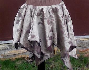 Earth Colour - Brown Leaf Pixie / Fairy Skirt