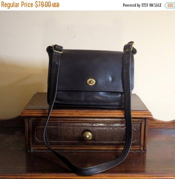 Football Days Sale Coach Pocket 'Bag' Black Leather - Larger Version Of Coach Pocket 'Purse'- -Rare Bag- U.S.A. Made- Very Good Condition