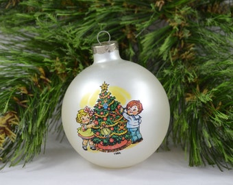 Vintage Campbell Kids Christmas Ornament From 1986 With It's Original Box