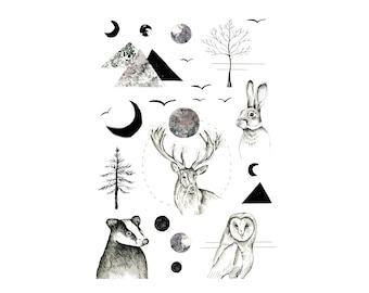 Woodlands Temporary Tattoos