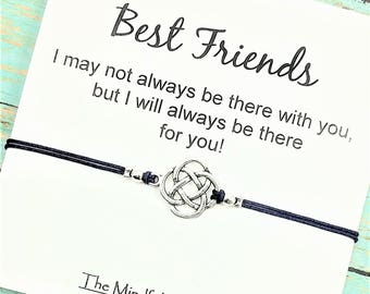 Best Friend Bracelet |  Long Distance Gift Bracelet | Friendship Bracelet | Celtic Bracelet | BFF Bracelet | Best Friend Gift