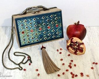 Bag, Leather bag, Box bag