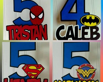 Super hero Cake Topper, Superman Party, Super man Cake, Super hero cake topper, Super party supplies, bat man birthday party, Super Hero