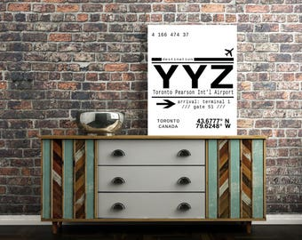 YYZ, Toronto Pearson International Airport Call Letters. A modern, minimalist typography downloadable print. Instant Download. 8.5x11