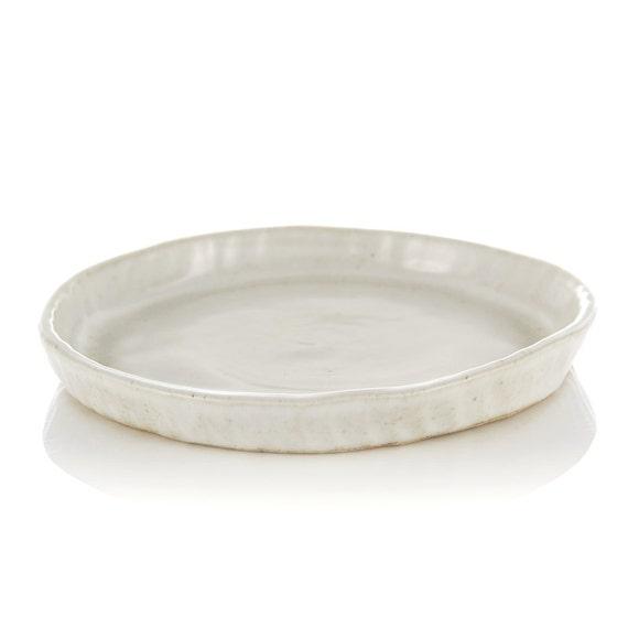 Stoneware plate large