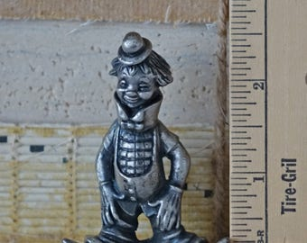 Peltro Italy pewter clown figurine - Vintage Peltro figurine - Italian Peltro clown - Pewter circus clown -Collectible Peltro figurine-Italy