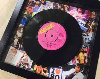 Retro Vintage Original Framed Vinyl 'No.1 Hit Record 'On the day you were born' 1988 Unique 30th Birthday Gift