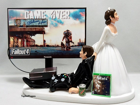 xbox one wedding cake topper wedding cake topper gamer and groom xbox 27674