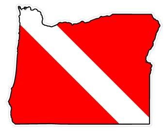 Oregon State (Y38) Diver Down Flag Vinyl Decal Sticker Car Laptop/Netbook