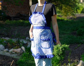 Cooking Apron Baking Apron Full Apron Womens Aprons Cooking Gift for Wife Kitchen Apron Chef Apron Pinafore Apron Kitchen Gift for Mum