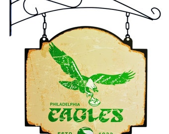 Philadelphia Eagles Tavern Sign With Bracket