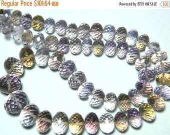 ON SALE 50% Beautiful AAA Ametrine - Ametrine Faceted Rondelles 8mm To 14mm  - 8.5 Inch Strand 28 Pieces Half Strand