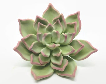 Green and Pink Succulent Sugar Flower for wedding cake toppers and gumpaste decorations