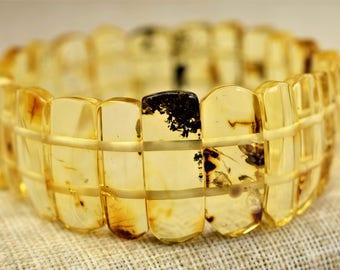 Amber bracelet for adults, amber bracelet, Baltic amber, Baltic amber lemon bracelet, Amber bracelet, Lemon Baltic amber, Unique color amber