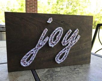 Script Joy String Art