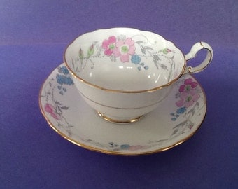 A.B.J. Grafton Rosa China Made in England Teacup and Saucer