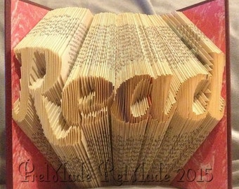 Read - Folded Book Art