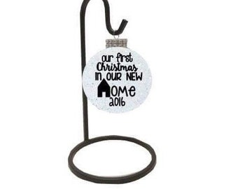 our first home ornament - our first christmas in our new home - our first christmas ornament -  our new home ornament - gifts under 10 - new