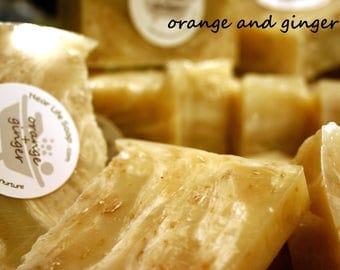 Orange & Ginger Stimulating Bar Soap with Oatmeal