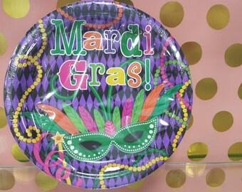 Mardi Gras Party Plates/Mardi Gras Dessert Plates/Mardi Gras Party Supplies