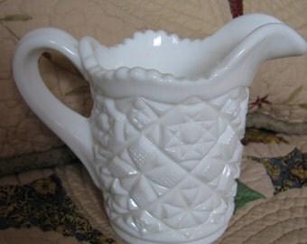 FOSTORIA 1704 Winburn Milk Glass Creamer 1950s