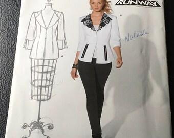 Simplicity New Look Workroom Project Runway Sewing Pattern 6099 Ladies jacket Blazer Petite Large Plus Size 8 10 12 14 16 18 Uncut