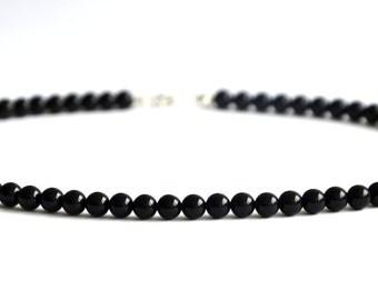 Black onyx necklace , 43cm