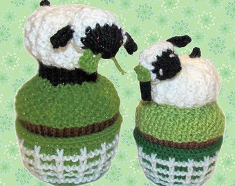 Knit Pattern Download - Like a Lamb - March Cupcake of the Month - Amigurumi