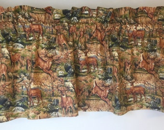 Deer/Outdoor window Valance