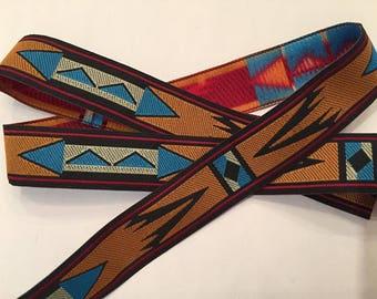 """Southwestern Woven Ribbon 3/4"""""""