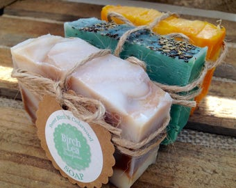 Soap special offer! Bath gift, natural soap, Any 3 handmade soaps, multi-buy discount! Soap gift